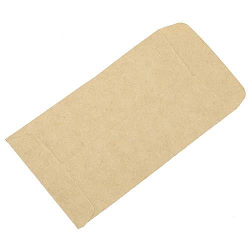 Emoshayoga Mano de Obra Fina Bolsas de Papel Kraft Bolsas de Almacenamiento Kraft para maíz Arroz de Trigo para el hogar y la Cocina(6 * 11 Adhesive)