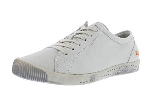 Softinos Damen Sneakers ISLA, Frauen,Low-Top Sneaker,lose Einlage,Halbschuhe,straßenschuhe,Freizeitschuhe,Ladies,Women's,Weiß (White),39 EU / 6 UK
