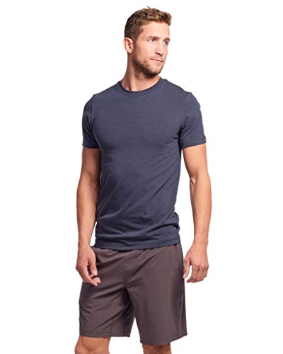 Rhone Element Tee, Peruvian Cotton Tee Shirt for Soft Texture and Feel (Navy, X-Large)