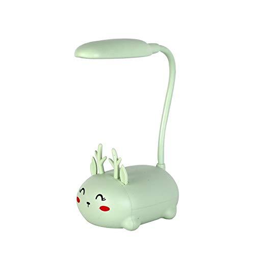 WWWL Lámpara Escritorio Novedad Creativa LED Lámpara de Mesa Cartoon Color Animal Aprendizaje Lectura Protección Ojos Lámpara de Noche USB Lámpara de Escritorio tigerA