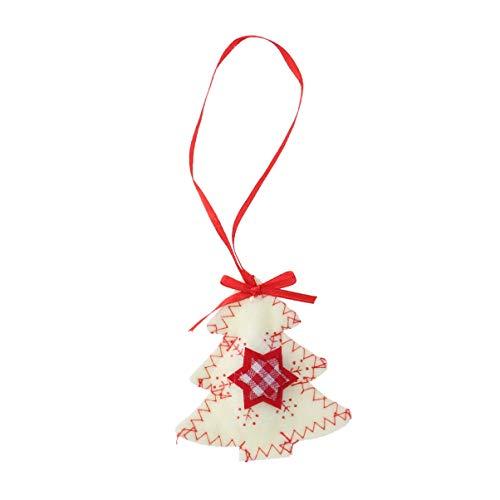 Amosfun - Adorno de Navidad Colgante de Fieltro para árbol de Navidad, Colgante Decorativo para Puerta, decoración para Tienda, Restaurante, hogar