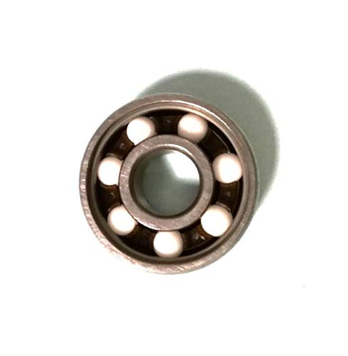 Kugellager Keramikkugel 608Rs Inline-Roller-Skate-Radlager Abec 11 Anti-Rost-Skateboard-Radlager 608 RS 8x22x7mm-Welle (Farbe : Silver, Inner Diameter : 8mm)