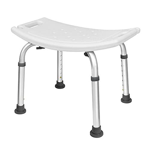 UISEBRT - Sgabello da doccia regolabile in altezza 38-53 cm, 136 kg, per anziani, bambini, persone con disabilità (sgabello da doccia regolabile in altezza - 2)