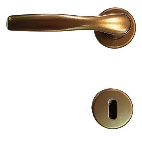 Coppia Maniglia Hoppe per porte interne Milano satinata alluminio moderna (alluminio Bronzo)
