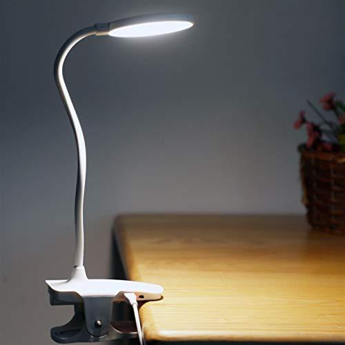 JSJJAWD Lámpara de Mesa Clip Tabla Wireless Estudio de la lámpara táctil 1200mAh Recargable LED de Lectura del USB del Escritorio de la lámpara de Tabla Ligera Flexo Lámparas de Mesa Caliente