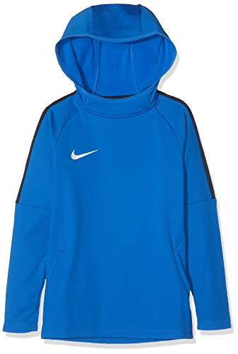 Nike Jungen Dry Academy18 Football Hoodie Pullover,Blau (royal blue/obsidian/obsidian/(white), L