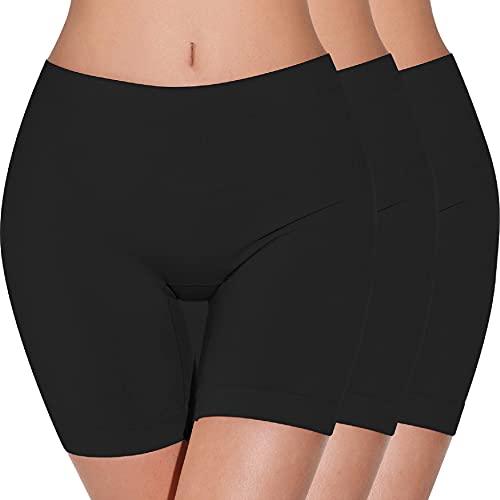 UMIPUBO Bragas Mujer Leggings Cortos Boxer Algodon Shorts Pantalones Deportivas Falda Leotardos de Seguridad Ropa Interior Slipshort para Running, Yoga y Ejercicio