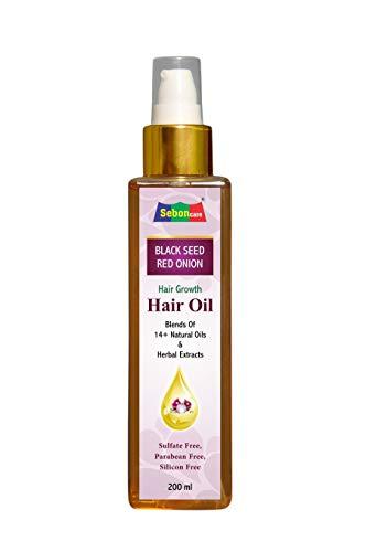 SebonCare Black Seed Onion Hair Oil for Hair Growth Enrich with Kalonji, Bhrahmi, Amla, Kapoor kachli, Bhangro, Nagarmoth, Nagod...