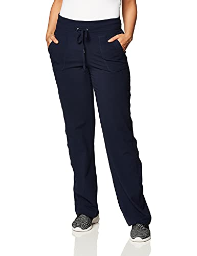 Danskin Women's Plus-Size Plus Size Drawcord Athletic Pant, Midnight Navy, 1X