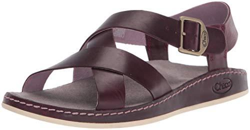 Chaco Women's Wayfarer Sandal, Fig Leather - 9 Medium