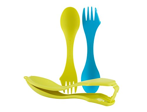 Light My Fire n Case Spork O 2er Pack Mit Transportbehälter, Lime Cyan, One Size