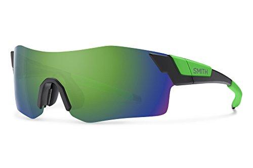 Smith Optics Pivlock Arena Chromapop Sunglasses, Matte Black Reactor, Green