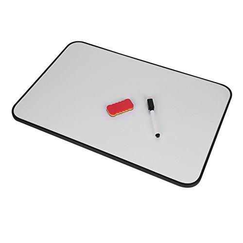 Whiteboard Weiß klein mini beschreibbar hängend Tafel Doppelseitig wand Memoboard für Kinder Pinnwand Office Home Magnettafel im Schreibtisch 30 * 45cm