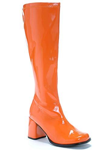 Ellie Shoes GOGO Kniestiefel, 7,6 cm, Größe: 43; Farbe: Orange Patent.
