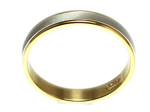 [京都ジュエリー工房] 結婚指輪 マリッジリング プラチナ ゴールド コンビリング PT900 18金 ペアリング 鍛造 平打ち レディース メンズ 「スベン」 p97 11号