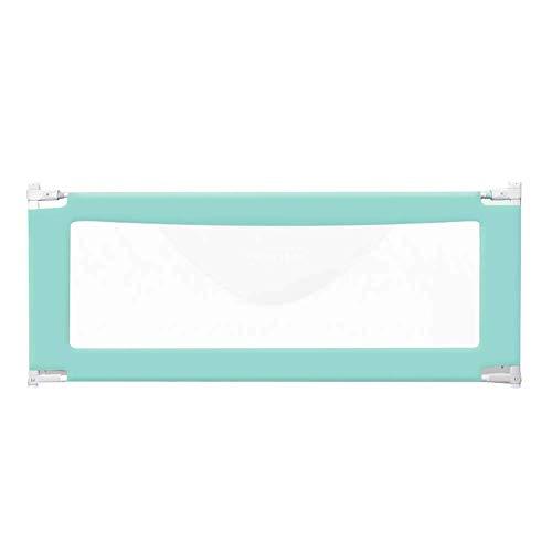 Baby Laufstall Spielzaun Kleinkinder Bettgitter für Zwei Einzelbetten, Kinderbettgestell für Kingsize-Bett, Verstellbarer Baby-Sicherheitsbettschutz (1 Packung) (Farbe: Blau, Größe: 1,5 m)