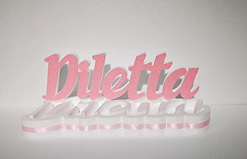 Scritta portaconfetti in polistirolo con nome personalizzato altezza cm.20