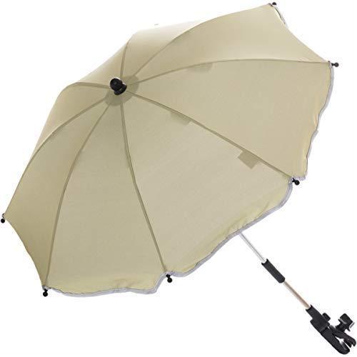 Sonnenschirm für Kinderwagen Buggy und Jogger mit UV SCHUTZ (50) Baby Kind Schirm (Natur)