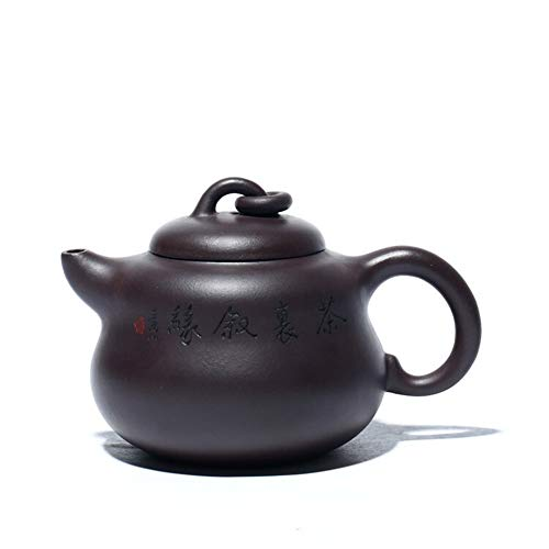 LPLHJD Teapot Teiera Teiera Famoso a Mano Zucca Regalo Tea (Color : Old Purple Mud)