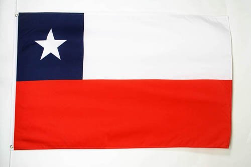 AZ FLAG Flagge Chile 90x60cm - CHILENISCHE Fahne 60 x 90 cm - flaggen Top Qualität