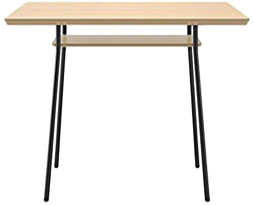 Lesro Mystic Rectangular Conference Table with Shelf & Black Legs/Natural Top, 36