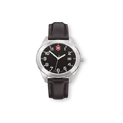 Victorinox Garrison Black Dial Leather Strap Ladies Watch 26035CB