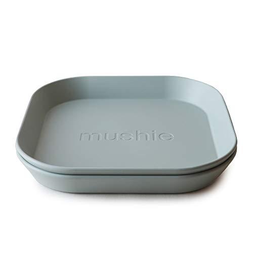 mushie Kinderteller | Kindergeschirr Teller Set 2er pack | BPA-frei geschirr Hergestellt in Dänemark (Sage)