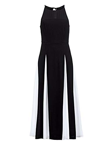 Alba Moda Damen Chiffon-Kleid schwarz-weiß