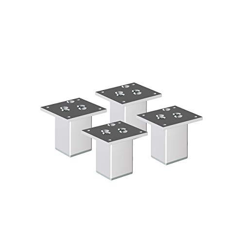 "Aluminium Möbelfüße Sossai\""Exklusiv\"" E4MF-N | 4er Set | Höhe: 100mm | Farbe: Aluminium"
