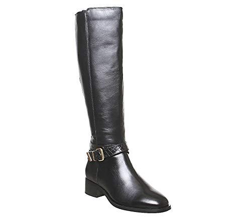Office Karter Rider Kniestiefel, Schwarz - Black Leather - Größe: 36 EU