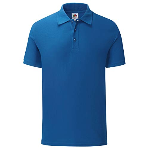 Fruit of the Loom 65/35 Tailored Fit Polo-Shirt Herren, Größe:M, Farbe:royal