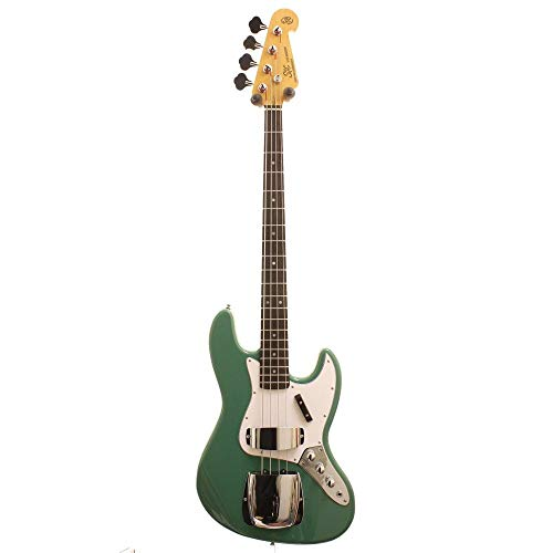 SX ELECTRIC BASS JAZZA STYLE IN VINTAGE GREEN