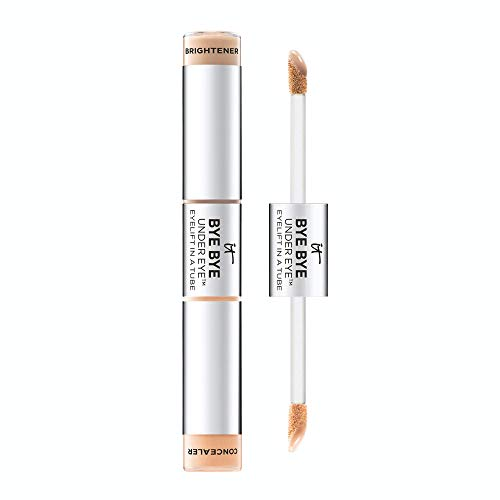 IT Cosmetics Bye Bye Under Eye Eyelift in a Tube, Tan (W) - Anti-Aging Concealer & Brightener - Erases Imperfections, Adds Light & Lift - With Hydrolyzed Collagen - 0.36 oz