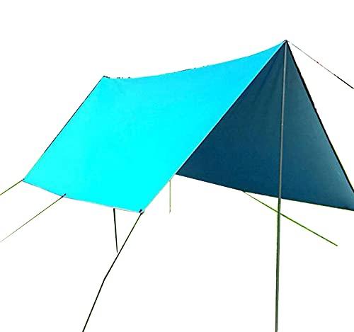 QI-CHE-YI Carpa de Playa, Pérgola, Tolding Multi-Person Tolera para Camping, Pesca, Entretenimiento Backyard, Picnic,Sky Blue