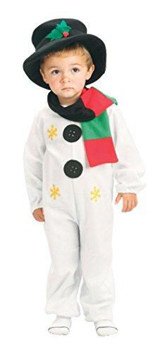 Bristol Novelty CC662 Costume de Bonhomme de Neige pour Tout Petit, Age 2-3 Ans, Multicolore