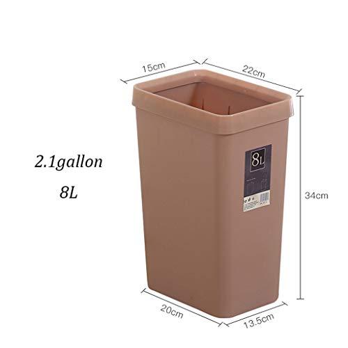 Jiji prullenbak plastic afvalemmer groot 2,1 gallon waterdichte prullenbak vuilnisbak ruimte No Cover Home Hotel Office keuken