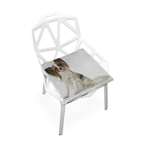 Lixhale Desk Chair Cushions Outdoor Papillon Dog Animal Soft Non-Slip Memory Foam Chair Pads Cushions Seat for Home Kitchen Office Desk 16x16 Inch Kids Cushion Chair