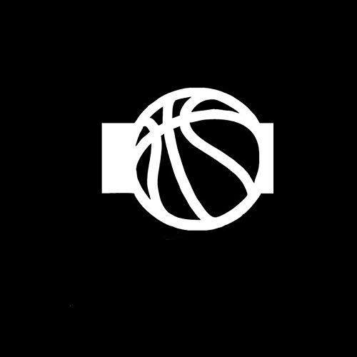 ZHYCT 2 Stücke, 11x9 cm Silhouette Basketball Sport Silber Lustige Auto Aufkleber Vinyl Aufkleber, Autofenster Aufkleber, Auto Autoaufkleber Tattoo Aufkleber, Motorrad Aufkleber Kunst Dekorative