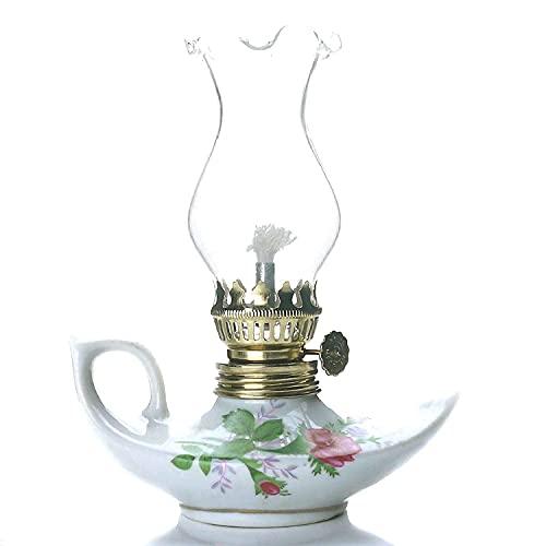 Purism Style - Porcelain & Glass Kerosene Lamp Table Oil Lamp Lantern