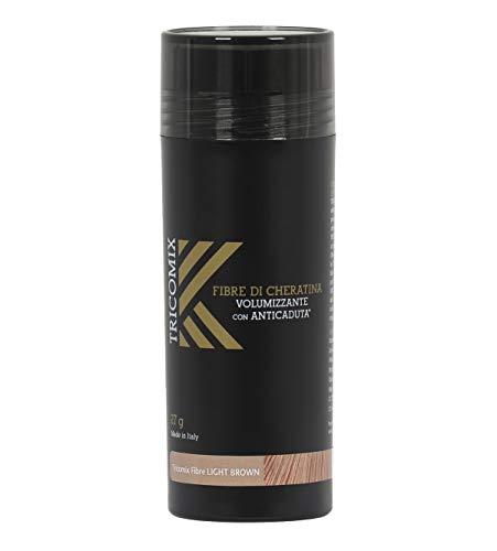 Tricomix Fibre di Cheratina Volumizzante con Anticaduta | Novità Made in Italy (27 grammi, Castano Chiaro (Light Brown))