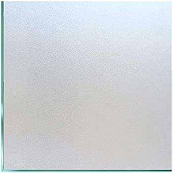 Coavas Privacy Window Film Sun UV Blocking Frosted Static Clings Non Adhesive Opaque Vinyl Decorative Glass Door Stickers Heat Control Coverings for Bathroom 17.5 x 78.7 Inch Matter Pure