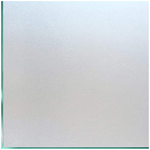 Coavas Privacy Window Film Sun UV Blocking Frosted Static Clings Non Adhesive Opaque Vinyl Decorative Glass Door Stickers Heat Control Coverings for Bathroom(17.5 x 78.7 Inch, Matter Pure)