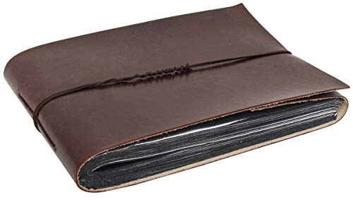 Notizbuch Notizheft Tagebuch Reisetagebuch Fotoalbum Poesiealbum Lederbuch DIN B5 Braun Leder