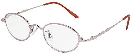 デューク 老眼鏡 +1.5 度数 メタルフレーム ソフトケース付き ピンクゴールド DR-25+1.50