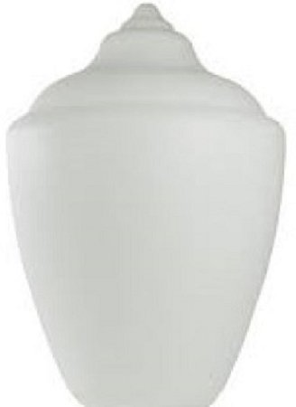 Small White Polyethylene Acorn Lamp Post Globes, Neckless with 5.25 Inch Opening