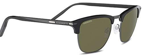 Serengeti Gafas de Sol ALRAY SHINY BLACK SHINY DARK GUNMETAL/MINERAL 55/22/145 unisex