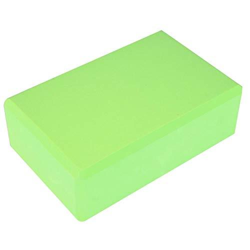 DAUERHAFT Yoga Block Yoga Cojín Portable Lightweight 9.1 * 5.9 * 3in resbalón-resistan, para el hogar(Grass Green)