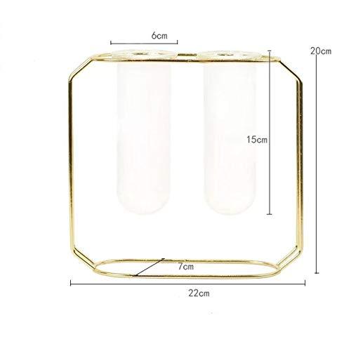 Ijzeren pot met glazen kommen Nordic gold, modern vaas met bloemen, moderne tuin potten, decoratieve plant stand,grote gouden
