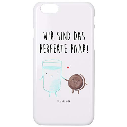 Mr. & Mrs. Panda Handy, Hülle, iPhone 6 / 6S Handyhülle Milch & Keks mit Spruch - Farbe Weiß