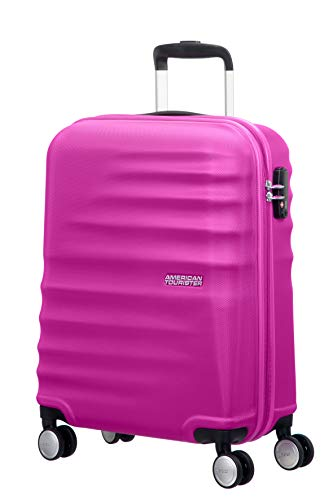 American Tourister WaveBreaker Spinner 55/20 - Equipaje de Mano, 36 Litros, Color Rosa (Hot Lips Pink)
